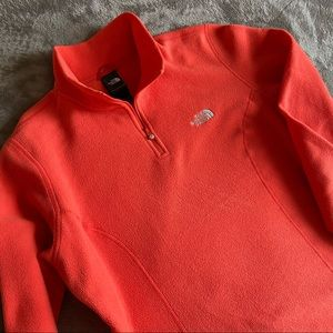 NORTHFACE   Coral Quarter-Zip Fleece Sweater